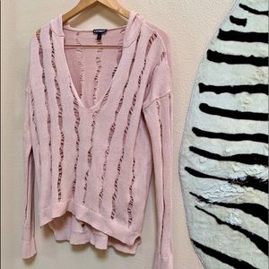 EXPRESS WOMENS DISTRESSED L/S Sweater size S